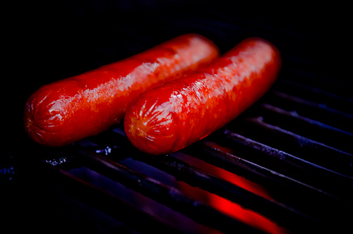 Grilling Hot Dogs - TheBusyBrain