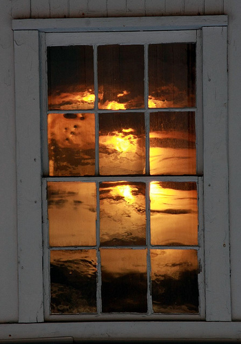Lighthouse Sunset Window - Savannah Grandfather