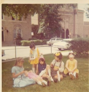 Me (in the Blue top) 10th B-Day - 1975