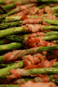 Pancetta Wrapped Asparagus - thebittenword